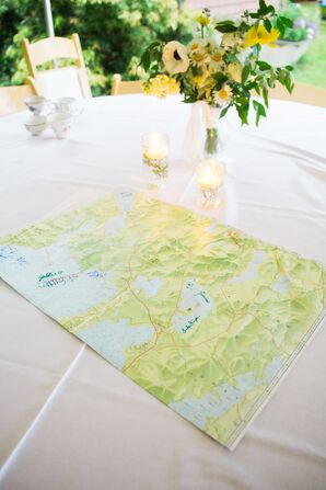 Sebago Lake Map Guest Book