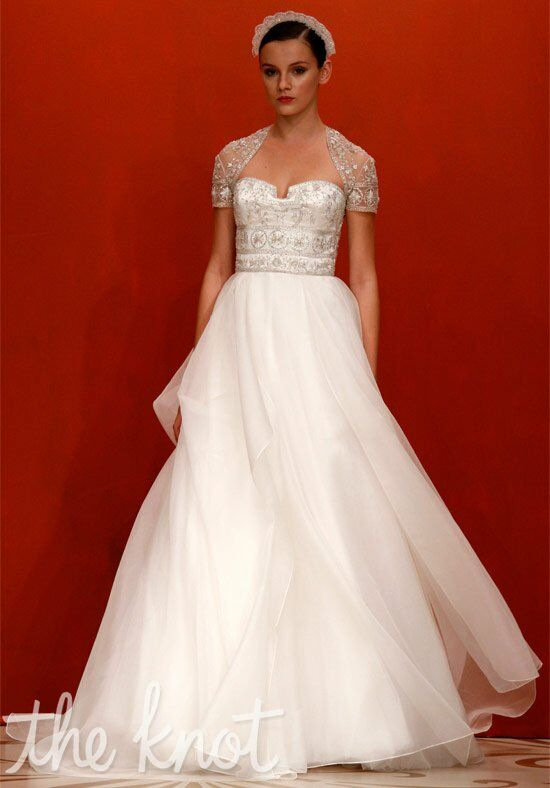 Reem acra 4407 from here to eternity wedding dress the for The knot gift registry