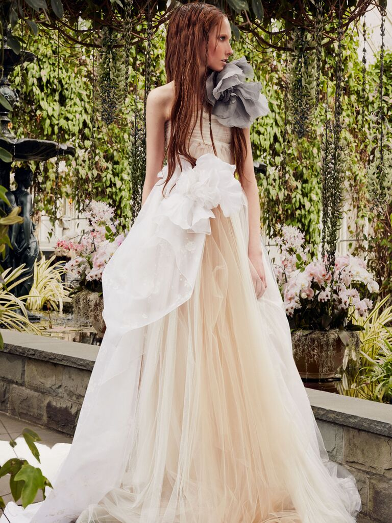 Vera Wang Spring 2020 Bridal Collection asymmetrical wedding dress