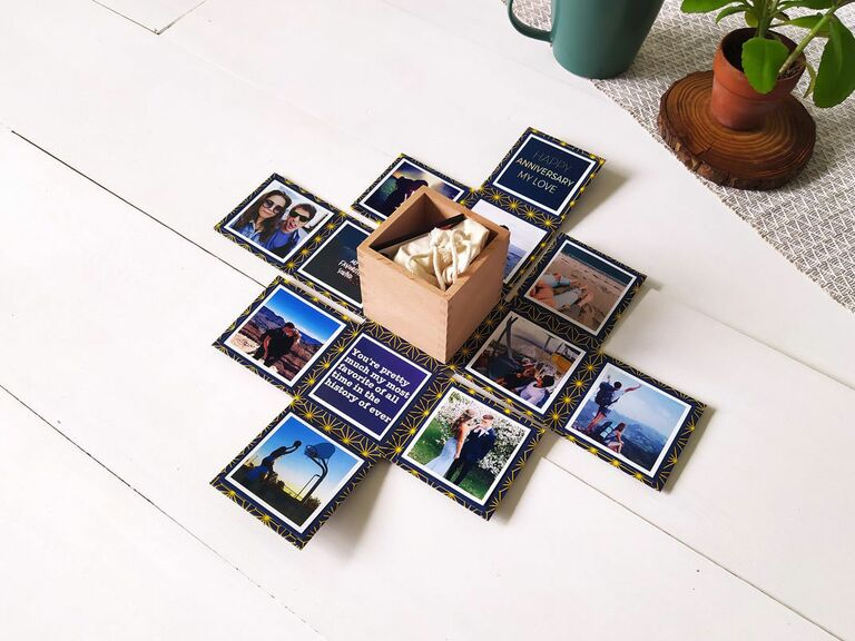 personalized magnet with photos, messages and gift box