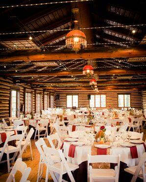 A Rustic Log Cabin Reception