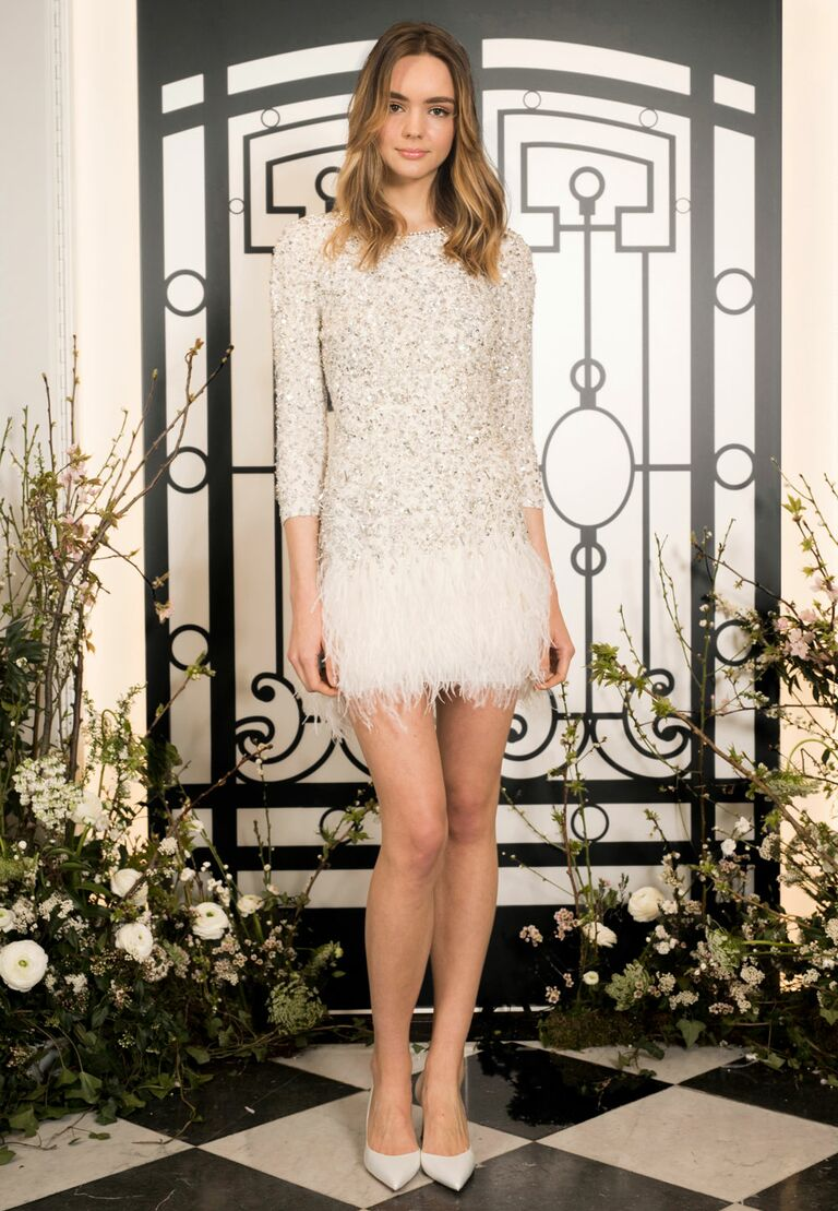 Jenny Packham short sexy wedding dress
