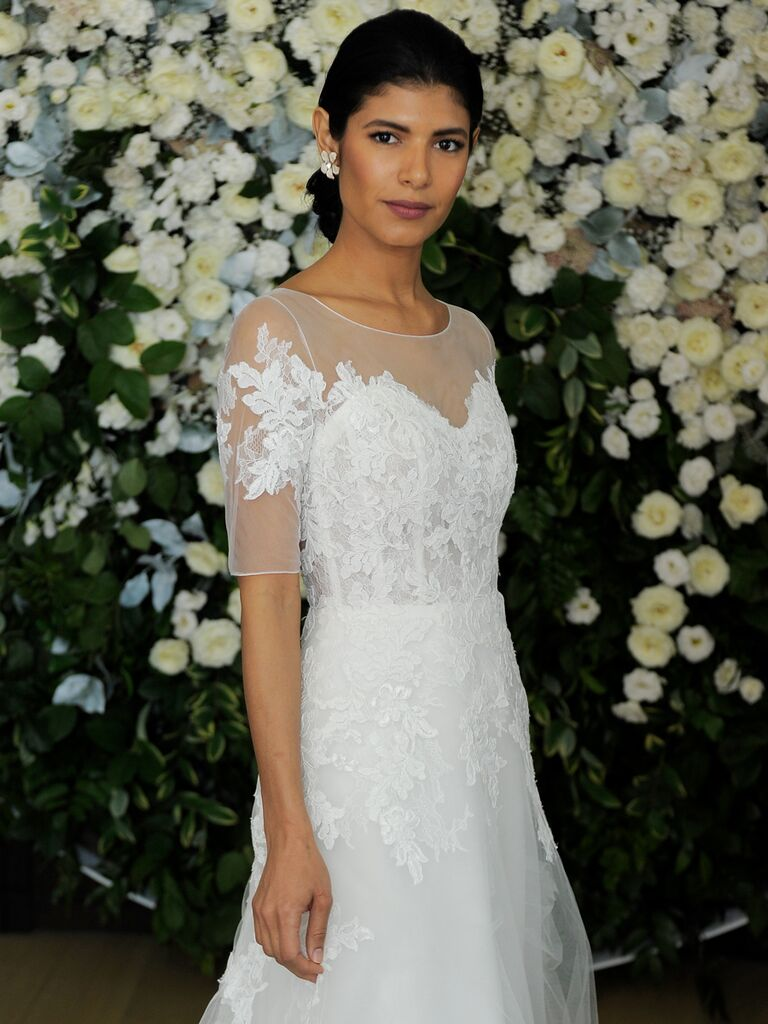 224e5ad3d98 Anne Barge Spring 2019 Collection  Bridal Fashion Week Photos