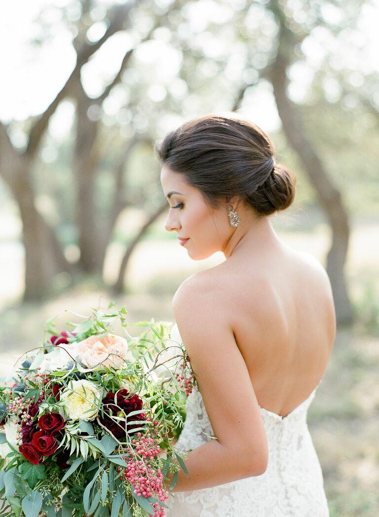 Wedding updo chignon