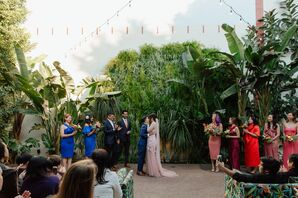 Ceremony with Natural Backdrop at Millwick in Los Angeles