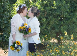 Ashley Avina (26 and a freelance hairstylist) and Meggan Kohn (31 and a director for an after-school program) met when they both started working at St