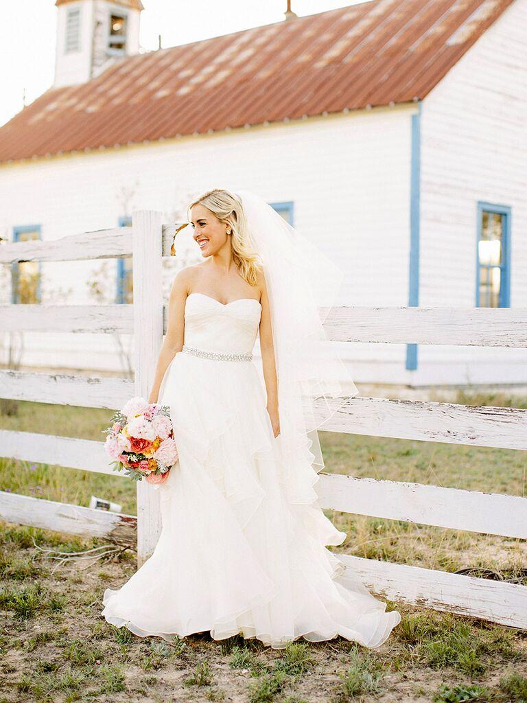 Classic wedding dress with timeless sweetheart neckline