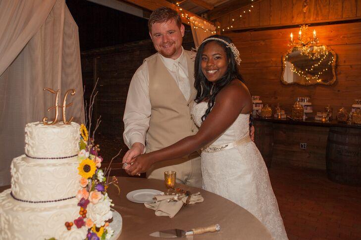Newlyweds Cut Their Cake
