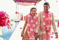 Nonstop entertainment was the theme for Melanie  (29 and an actress) and Neeraj's (33 and an investor) opulent wedding at Amanyara in Turks and Caicos
