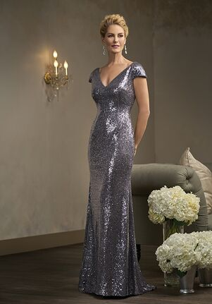 Jade Couture K198014 Silver Mother Of The Bride Dress