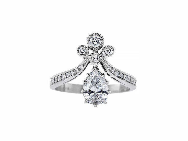 Trumpet and Horn vintage engagement ring