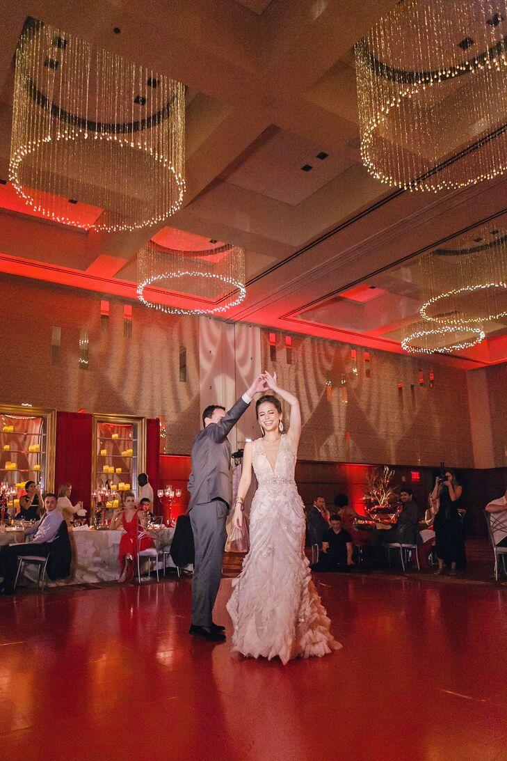 "Nicole and Dan's first dance was to Sam Smith's acoustic version of ""Latch."" ""The timelessness of the lyrics and the elegance of the composition are a perfect balance,"" Nicole says. ""Reflective of perpetual union."""