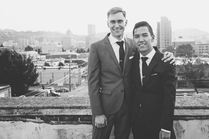 Married Couple with Urban Backdrop