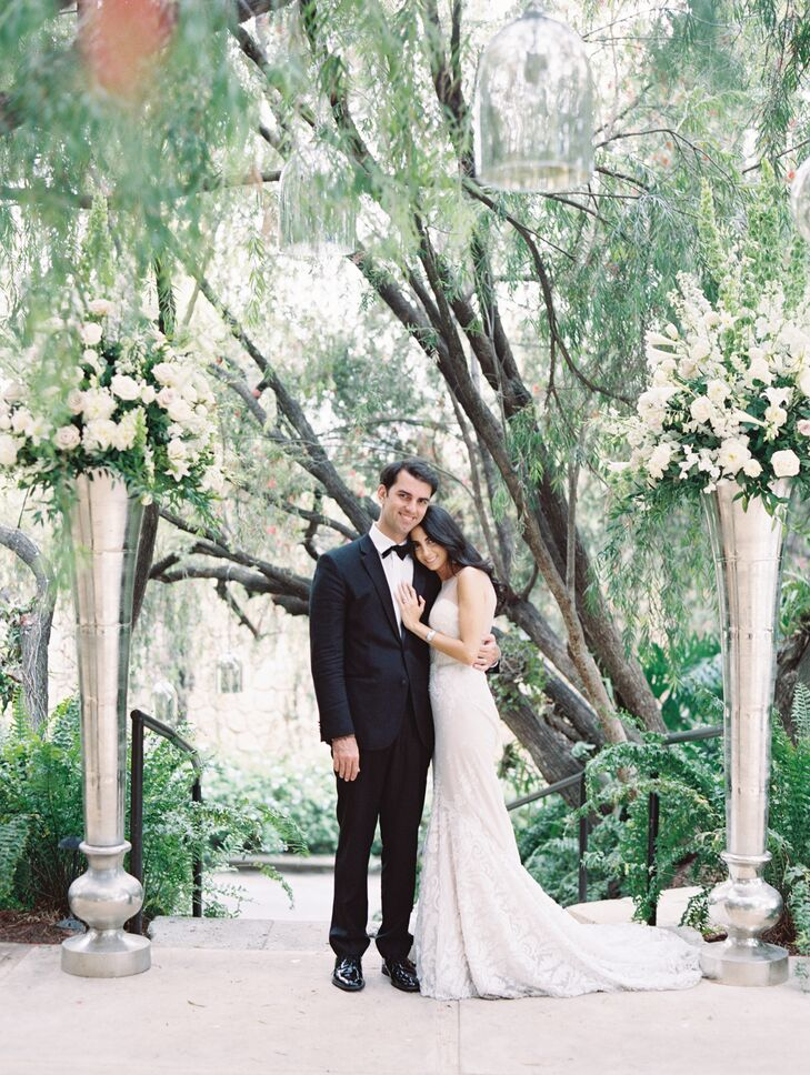A vibrant Brazilian Carnival fused with traditional garden-inspired romance when Monique Kafie (28 and a business administrator) wed Gabriel de Lamare
