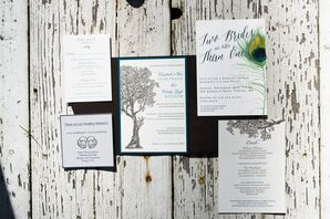 Wedding Invitations with Woodland Accents