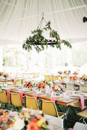 Colorful Outdoor Tented Reception in Palm Springs