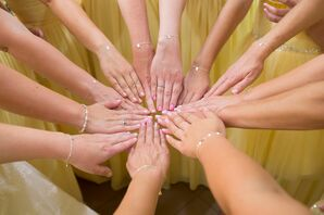 Light Pink, Blush and Neutral Bridesmaid Manicures