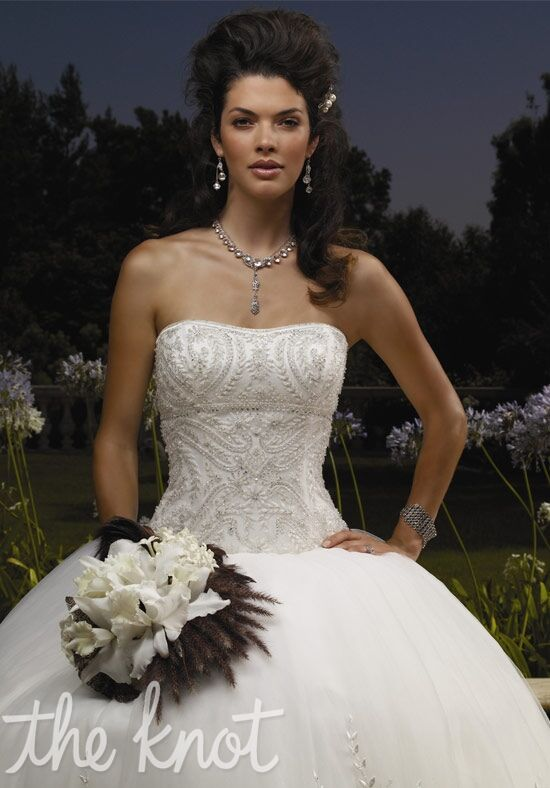 Casablanca bridal 1866 wedding dress the knot for The knot gift registry