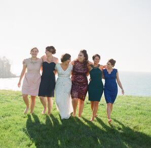 Mismatched Bridal Party Look