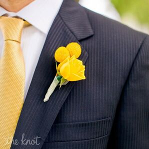 Yellow Floral Boutonniere