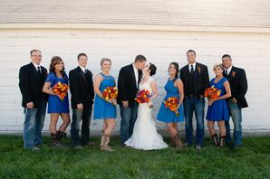 Casual Blue Bridesmaid Dresses and Menswear