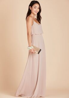 Birdy Grey Gwennie Bridesmaid Dress in Taupe V-Neck Bridesmaid Dress