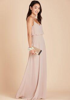 Birdy Grey Gwennie Bridesmaid Dress in Taupe V-Neck Bridesmaid Dress