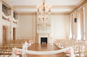 The Hotel Concord Gold-Detailed Ballroom Wedding Ceremony