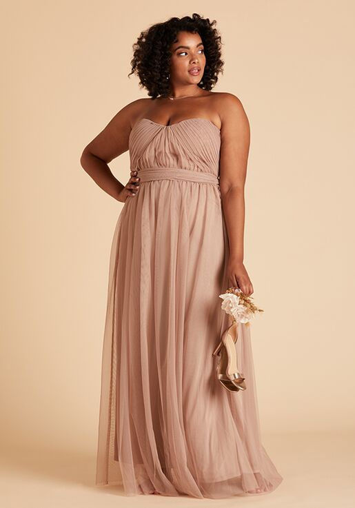Birdy Grey Christina Convertible Curve Dress in Sandy Taupe Strapless Bridesmaid Dress