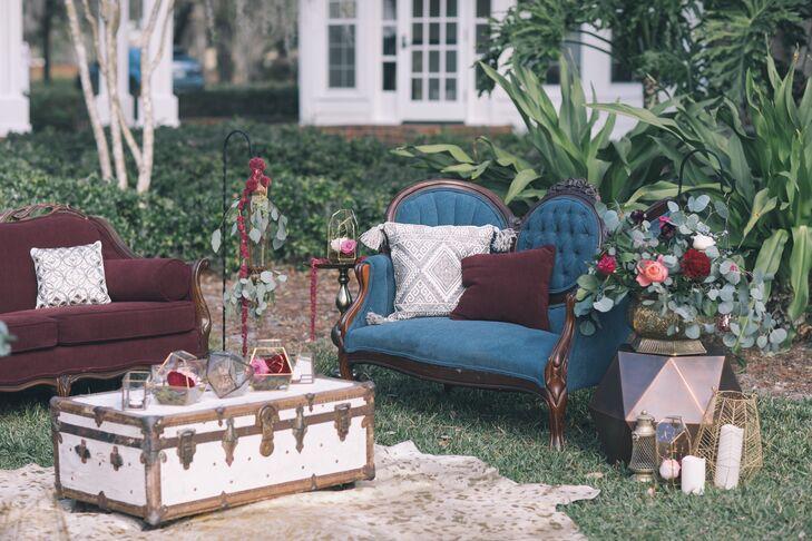 Jewel-Tone Vintage Lounge Furniture