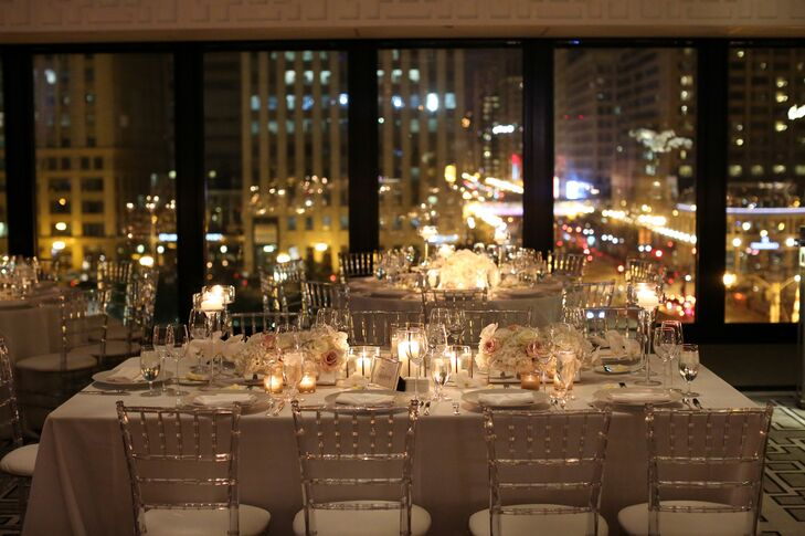 Glam Ballroom Reception At The Langham Chicago