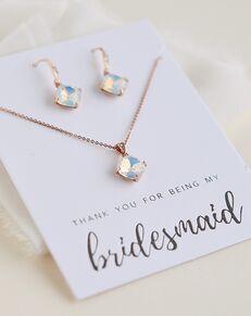 Dareth Colburn Alaya Opal Bridesmaid Pendant Set (JS-1709-BR) Wedding Necklace photo