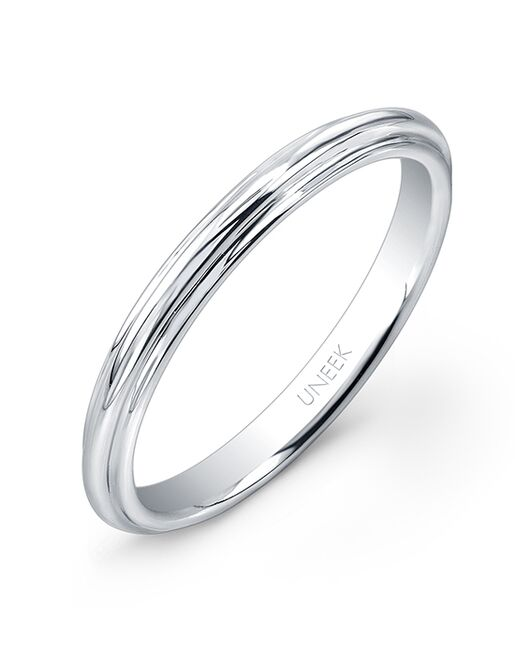 Uneek Fine Jewelry UWBS019 White Gold Wedding Ring