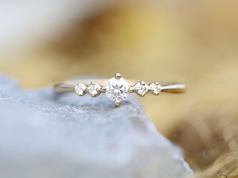 Ringonly diamond engagement ring in 14K yellow gold