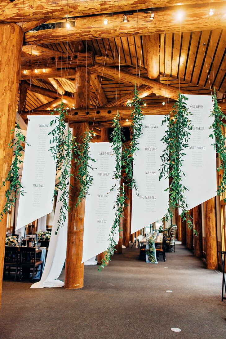 Rustic Hanging Seating Charts