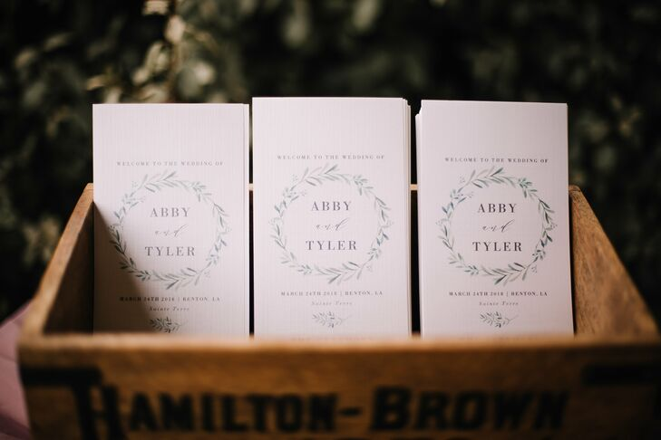 Simple Rustic Ceremony Programs in Wooden Box