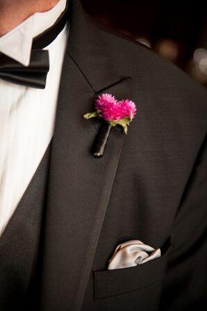 Pink Wildflower Groomsmen Boutonniere