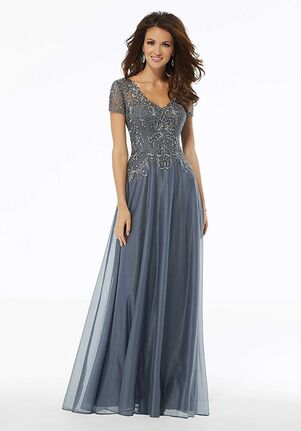 MGNY 72116 Gray Mother Of The Bride Dress