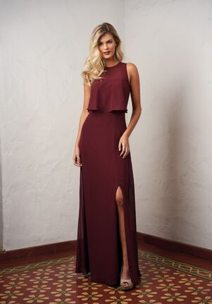 JASMINE P216058 Halter Bridesmaid Dress