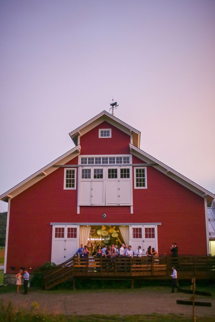 The newlyweds and their guests moved into the West Monitor Barn for a cocktail hour and reception.