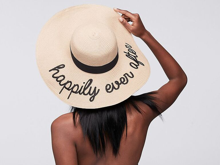 Happily Ever After floppy hat bachelorette party gift