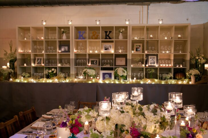 "The couple's friends did all of their intimate and natural reception decor. ""They basically took my Pinterestrnpage and did everything!"" says Kathryn. ""It was the most special, beautiful thing—the love, talent and artistry that went into it took the perfect setting to a new level."""