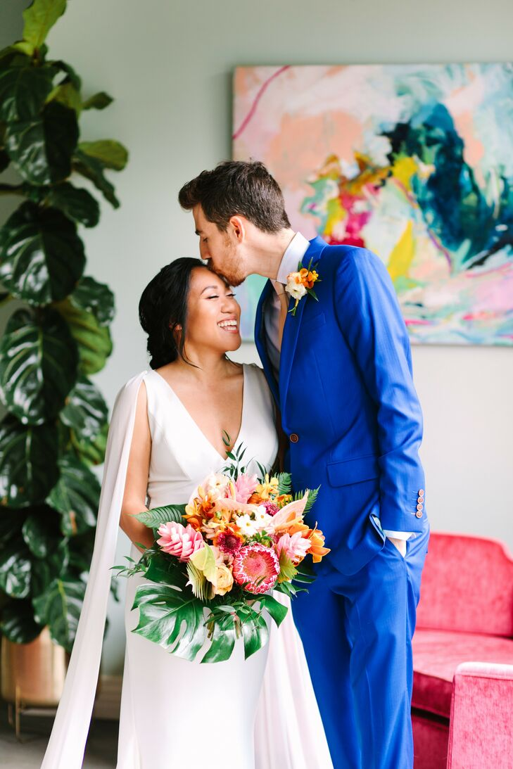 Bride and Groom at The Fig House Wedding Venue in California