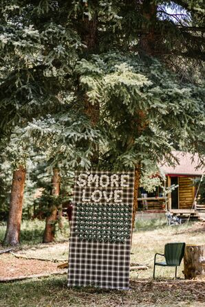 Flannel Escort Card Display with S'more Escort Cards