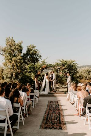 Wedding Ceremony at Tin Roof Barn in White Salmon, Washington