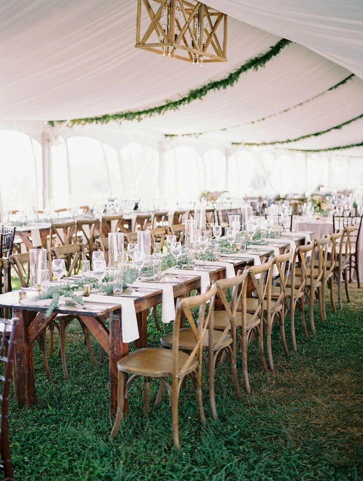 Rustic Tented Reception at Lauxmont Farms in Wrightsville, Pennsylvania