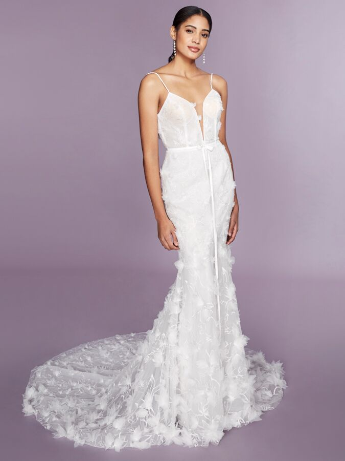 Marchesa Notte sleeveless fit-to-flare wedding dress