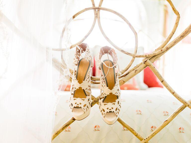 Charlotte Olympia bridal wedding shoes