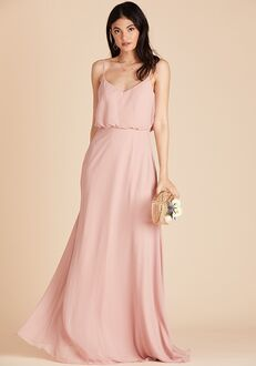 Birdy Grey Gwennie Bridesmaid Dress in Rose Quartz V-Neck Bridesmaid Dress