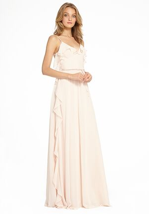 Monique Lhuillier Bridesmaids 450525 V-Neck Bridesmaid Dress